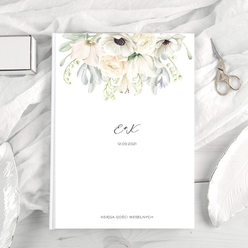KSIĘGA gości weselnych Z IMIONAMI Świeżość Kwiatów PION 200 stron