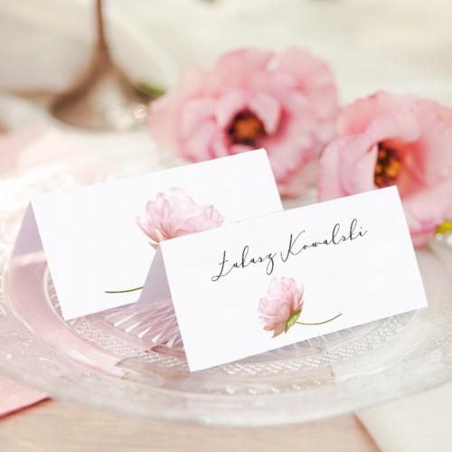 WINIETKA ślubna z nadrukiem Romantyczna Piwonia