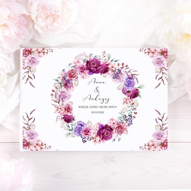 KSIĘGA GOŚCI weselnych z imionami Kwiatowy Wieniec
