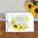 KSIĘGA wspomnień dla Rodziców Akwarelowe Słoneczniki (+sznurek jutowy)