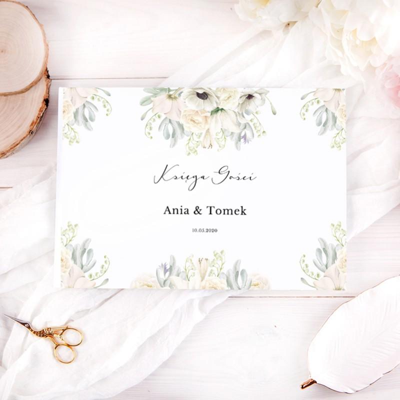 KSIĘGA GOŚCI weselnych z imionami Świeżość Kwiatów