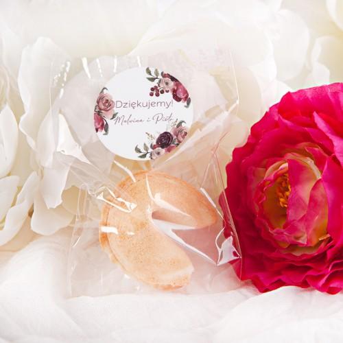 CIASTECZKA z wróżbą Dusty Roses 10szt (+etykieta z imieniem)