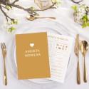 ANKIETY weselne kreatywna księga gości 10szt
