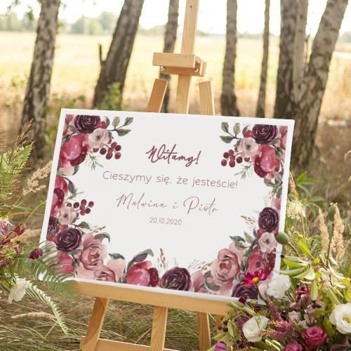 PLAKAT personalizowany 50x70cm Dusty Roses