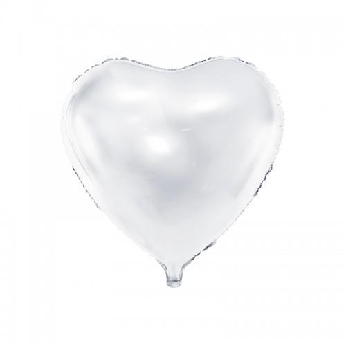 BALON foliowy Serce ślub wesele 61cm BIAŁY