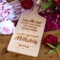 PREZENT dla Pary Młodej deska Przepis na Miłość