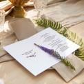 MENU weselne OTWIERANE Kolekcja Lawendowa