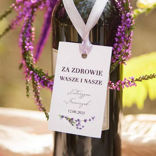 ZAWIESZKA na alkohol personalizowana Kolekcja Lawendowa