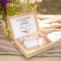 PODZIĘKOWANIE dla Świadkowej w drewnianym pudełku Kolekcja Lawendowa