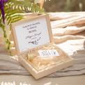 PODZIĘKOWANIE dla Świadka w drewnianym pudełku KACÓWKA Kolekcja Lawendowa