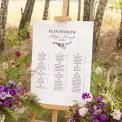 PLAN stołów personalizowany Kolekcja Lawendowa