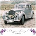 TABLICE rejestracyjne ślub Z NADRUKIEM Kolekcja Lawendowa