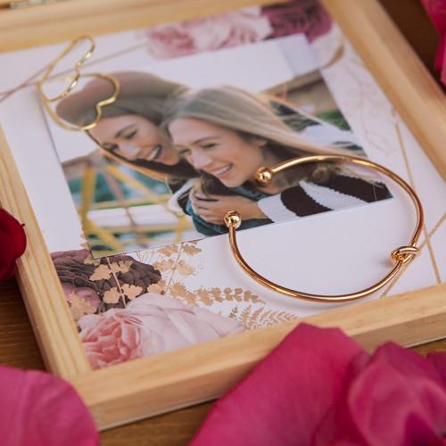 PODZIĘKOWANIE dla Świadkowej w płaskim pudełku Marsala&Gold