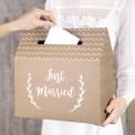 PUDŁO na koperty EKO KRAFT z napisem Just Married