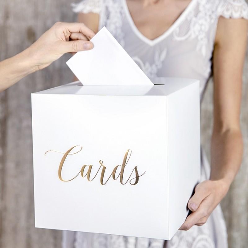 PUDŁO na koperty Cards NAPIS ZŁOTY