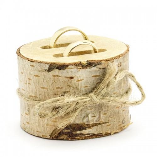 PODSTAWKA na obrączki drewniana z nacięciami