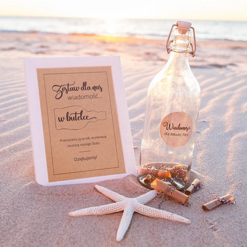 KSIĘGA GOŚCI weselnych List w butelce MEGA ZESTAW WYSYŁKA NATYCHMIASTOWA