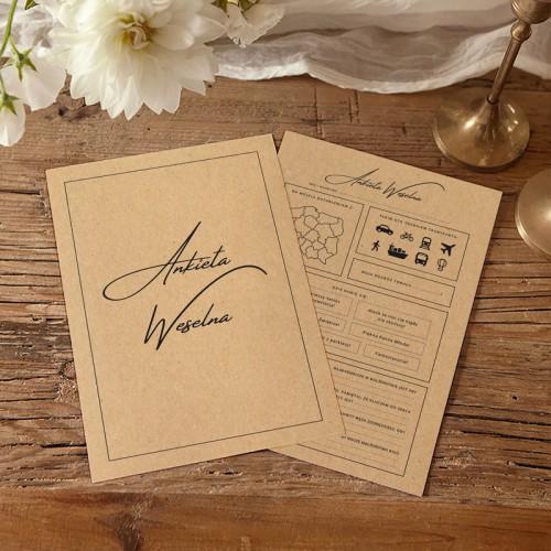 ANKIETY weselne kreatywna księga gości EKO KRAFT 10szt