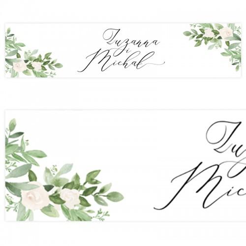 TABLICA rejestracyjna personalizowana Delikatne Kwiaty