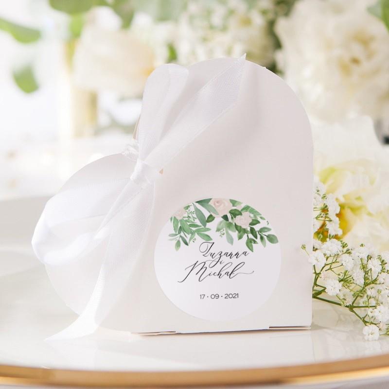 PUDEŁECZKA SERCA Delikatne Kwiaty 10szt (+etykiety+białe wstążki)