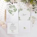 ZAPROSZENIE ślubne Delikatne Kwiaty (+koperta z wnętrzem+naklejka)