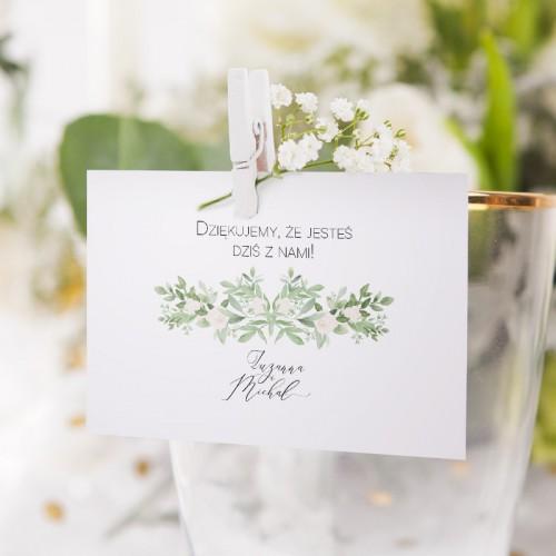BILECIK personalizowany Delikatne Kwiaty