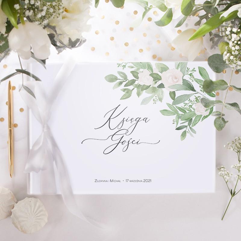 KSIĘGA GOŚCI weselnych z imionami Delikatne Kwiaty