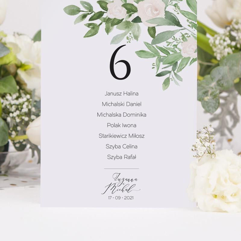 PLAN STOŁÓW w formacie a5 PERSONALIZOWANY Delikatne Kwiaty