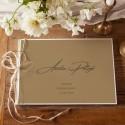 KSIĘGA GOŚCI weselnych z imionami EKO KRAFT (+szyfon biały+sznurek jutowy)