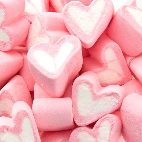 PIANKI Marshmallow Jasnoróżowe Serca do candy baru MEGA PAKA 1kg