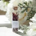 PŁATKI RÓŻ suszone w szklanej buteleczce Z IMIONAMI Zapach Piwonii