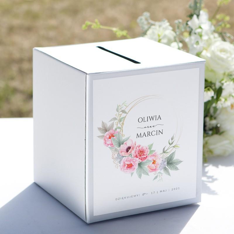 PUDŁO na koperty z personalizacją Zapach Piwonii