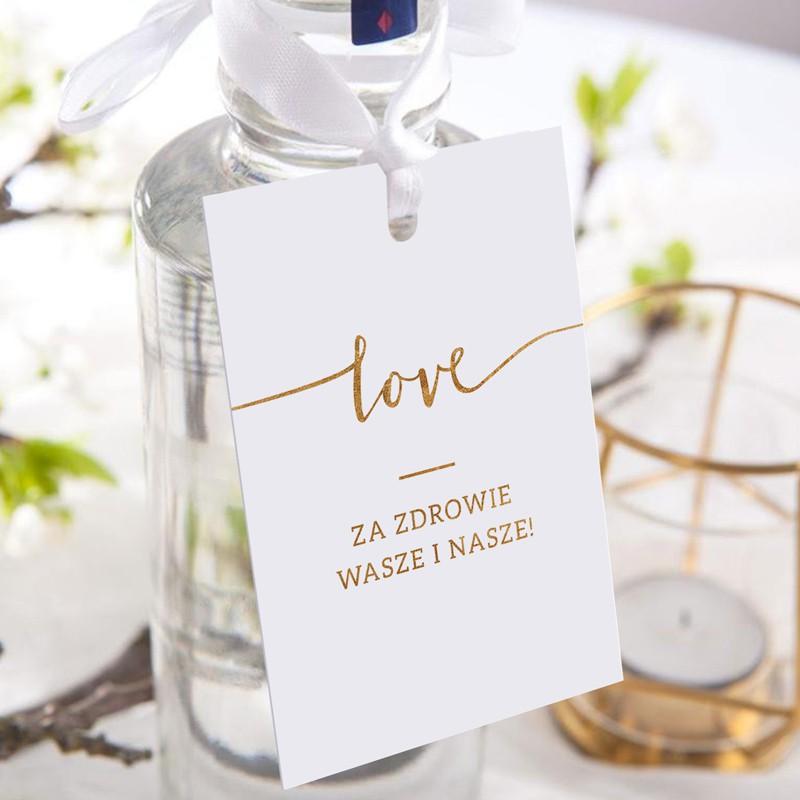 ZAWIESZKI na alkohol Kolekcja Love 20szt