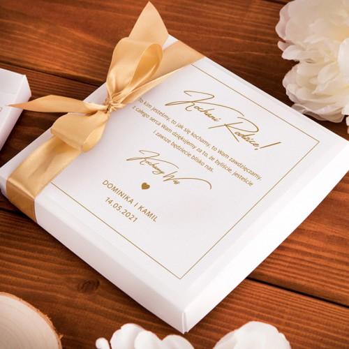 PODZIĘKOWANIE dla Rodziców Bombonierka z czekoladkami Dziękujemy z sercem Z IMIONAMI