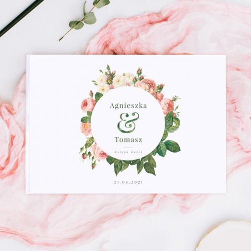 KSIĘGA GOŚCI weselnych z imionami Zaczarowany Ogród