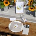 BILECIKI personalizowane ROMBY Kolekcja Słoneczniki 20szt