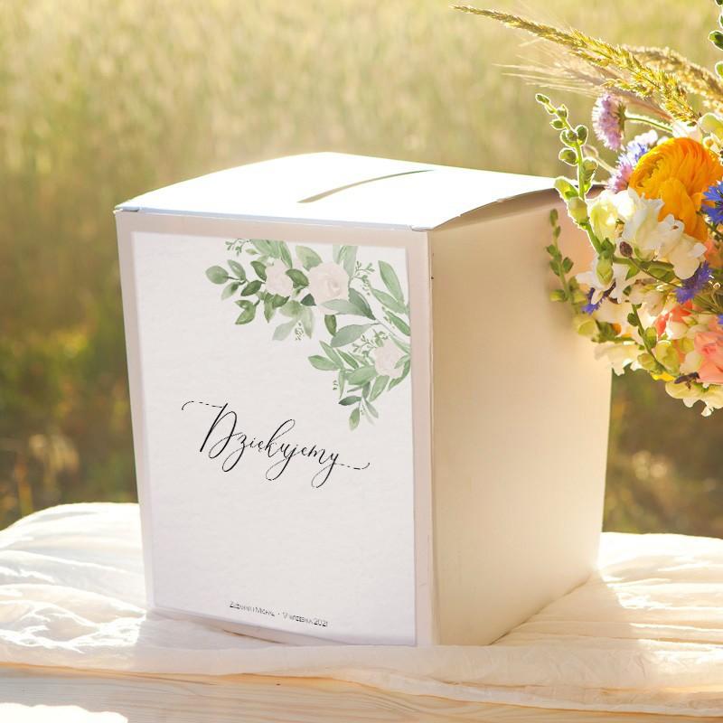 PUDŁO na koperty z personalizacją Delikatne Kwiaty