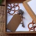 PREZENT dla Pary Młodej w pudełku kraft Klucz do szczęścia Z IMIONAMI