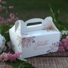 PUDEŁKA na ciasto z rączką Subtelny Róż 10szt