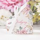 PUDEŁECZKA Serca podziękowanie Subtelny Róż (+białe wstążki) 10szt