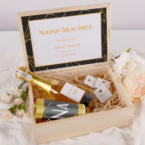 PODZIĘKOWANIE dla SuperTaty szampan+szarfa Z IMIONAMI