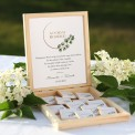 PODZIĘKOWANIE dla Rodziców skrzyneczka z czekoladkami Z IMIONAMI Eukaliptus