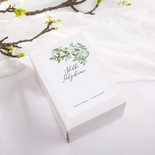 PUDEŁKA na ciasto z IMIONAMI Delikatne Kwiaty 12szt