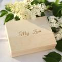 PUDEŁKO na obrączki drewniane Kwiaty Lata Z IMIONAMI