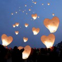 LAMPION Spełnionych Życzeń w kształcie serca BIAŁY