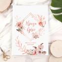 KSIĘGA gości weselnych Z IMIONAMI Romantic Rosegold PION 200 stron