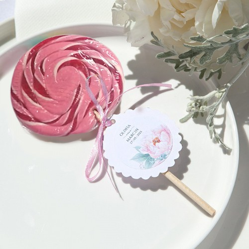 LIZAK owocowy pastelowy Zapach Piwonii 60g MEGA DUŻY (+bilecik kółko+naklejka z imionami)
