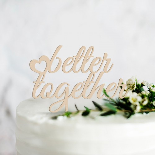 TOPPER na tort weselny Better Together