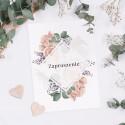 ZAPROSZENIE ślubne dwustronne Z IMIONAMI Vintage Roses