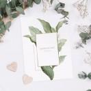 ZAPROSZENIE ślubne dwustronne Z IMIONAMI Botaniczne